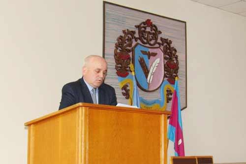 Голова Гребінківської райдержадміністрації В.В. Роспопов