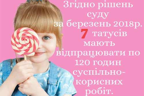 На Гребінківщині 7 татусів мусять відпрацювати 120 годин, бо не платили аліменти