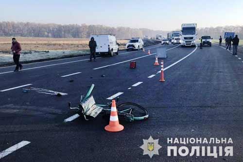 У двох ДТП на Полтавщині за минулу добу один велосипедист загинула та один – травмований