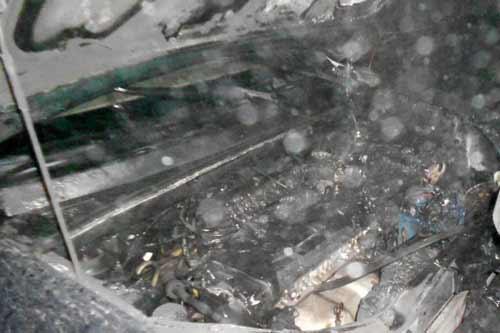 Пирятинські пвогнеборці гасили пожежу автомобіля на 127 кілометрі автодороги Київ - Харків