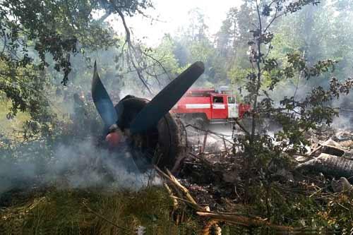 На Полтавщині упав та згорів літак, який летів на оприскування сільськогосподарських посівів