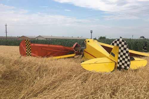 На Полтавщині розбився легкомоторний літак: фото c місця ЧП