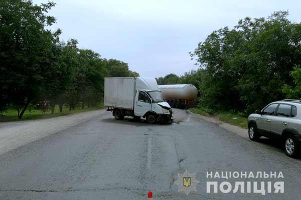 На Полтавщині сталася дорожньо-транспортна пригода за участі двох вантажівок
