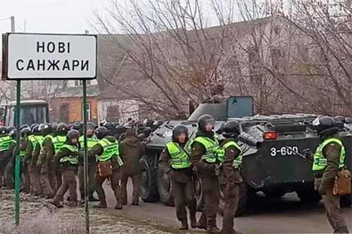 Протести на Полтавщині: у Нових Санжарах проти прибуття евакуйованих з Китаю