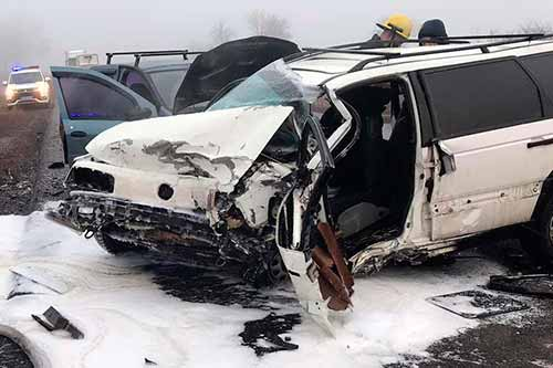 ДТП на Полтавщині: зіткнулися три автомобілі, є травмовані