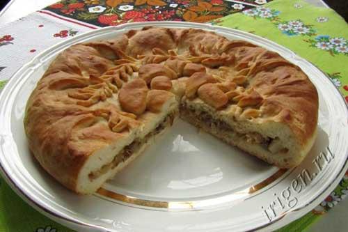 как оформить красиво пирог с капустой