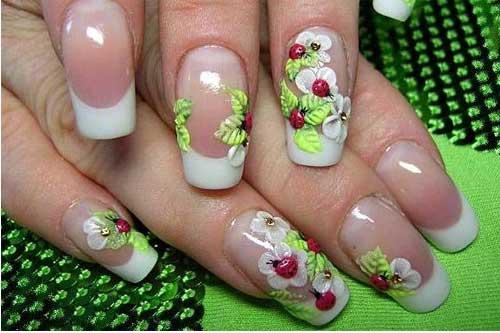 Рисунки на ногтях лепкой