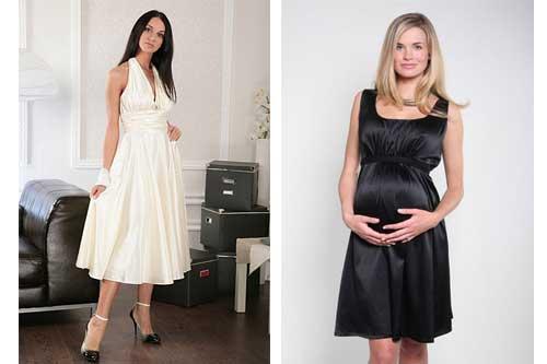 02e9f825e005549 Короткие вечерние платья для беременных - Весілля - Він і вона