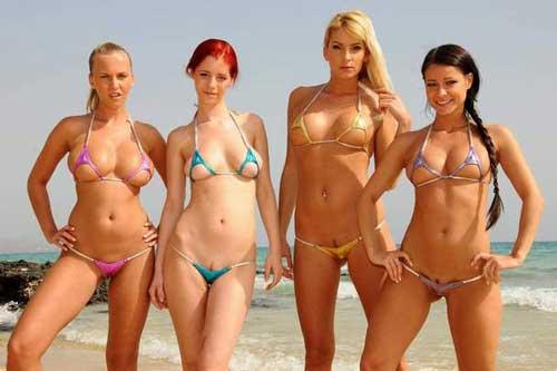 молодые девушки в микро бикини фото